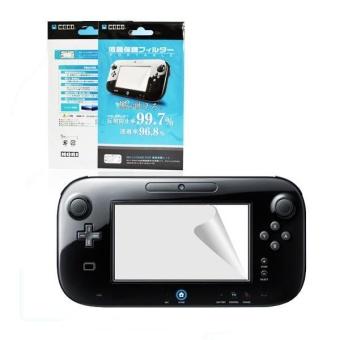 3x Ultra Clear Screen Protector LCD Film Guard Skin for Nintendo Wii U Gamepad - intl