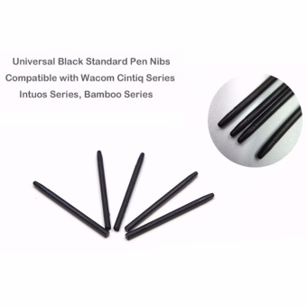 40 pcs /Lot Graphic Drawing Pad Stylus Standard Black Pen Nibs for Wacom Bamboo Intuos Cintiq CTE MTE CTL CTH Series Pad Pen - intl - 2