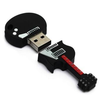 4GB Guitar USB 2.0 Metal Flash Memory Stick Storage Thumb U Disk -intl