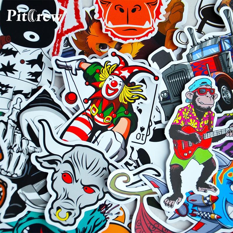 ... 50 PCS Car Styling JDM Decal Stickers for Graffiti Car Covers Skateboard Snowboard Motorcycle Bike Laptop ...