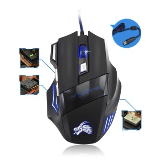 5500DPI 7 Button LED Optical USB Wired Gaming Mouse Mice For ProGamer - intl - 5