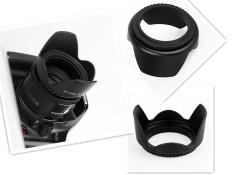 58mm Flower Shape Screw Mount Camera Lens Hood