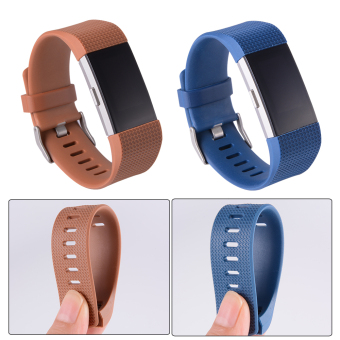 5pcs Colorful Replacement Wristband with Metal Clasp for Fitbit Charge 2 TH554 - 5