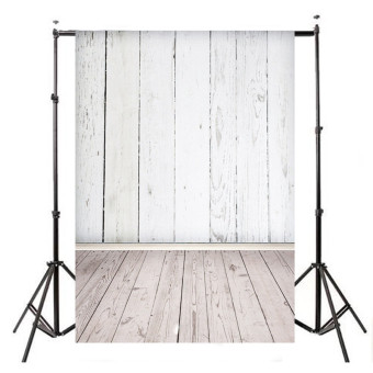 5x7ft Vinyl Cloth WHITE WOOD Photography Background Photo Backdrop for Studio - 5
