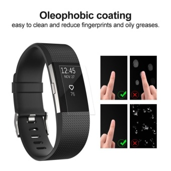 6-Pack Ultra-clear Hardness Ultra-clear Hardness Full CoverageScreen Protector for Fitbit Charge 2(Clear) - intl - 5