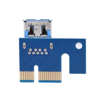 60cm PCI-E Express 1x to 16x 6 Pin Extension Cord Extender RiserGraphics Card Adapter - intl - 2