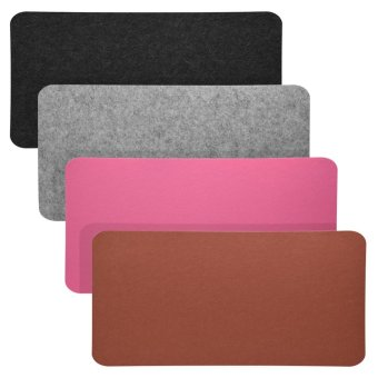 68x33cm Felts Table Mouse Pad Office Desk Laptop Mat Anti-static Computer PC Pads Dark Gray - intl - 4