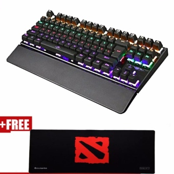 87Keys Backlight Mechanical Gaming Keyboard free SteelSeries LongExtender Gaming Mouse Pad