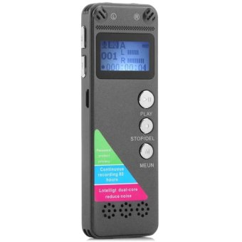 8GB Digital VOR Voice Phone Recorder MP3 for Sound Audio (Metal)