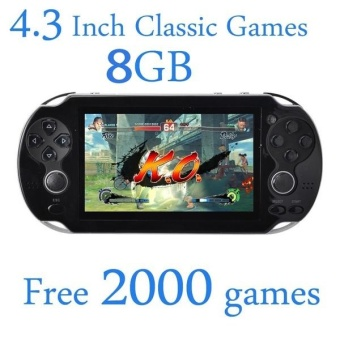 8GB Video Game Console Free 2000 Games 4.3 Inch MP4 MP5 PlayersHandheld Game Player (White) - intl