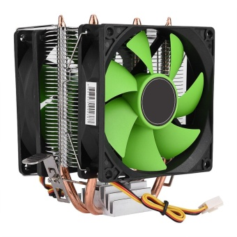 90mm 3Pin Dual-sided Fan CPU Cooler Heatsink Quiet for IntelLGA775/1156/1155 AMD AM2/AM2+/AM3 - intl
