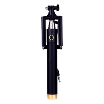 A-01 Foldable Selfie Stick Monopod With Remote Shutter (Gold/Black)
