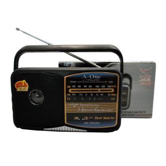 A-One AE-280 Portable Multi Function FM/AM/TV Radio (Black) - 3