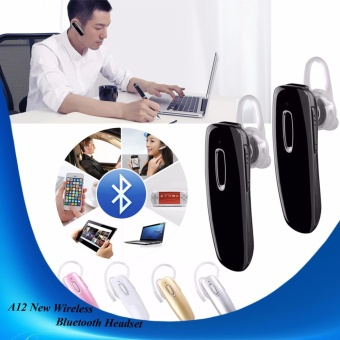 A12 NEW Wireless Bluettoth Headset (BLACK) Set OF 2