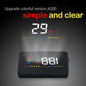 A200 3.5 Inch Universal Car GPS HUD Head Up Display + OBD2Interface OverSpeed Warning - intl - 2