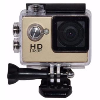 A7 1080p Waterproof Sports Action Camera (Waterproof Casing May Vary) (Gold)