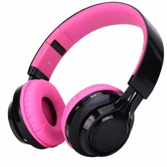 ab005 folding bluetooth headset card radio stereo pink lazada ph. Black Bedroom Furniture Sets. Home Design Ideas