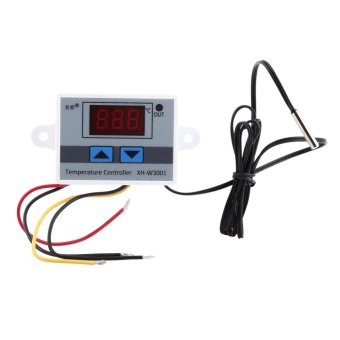 AC220V High Precision Digital Thermostat Control Temperature Controller Switch with Probe - intl