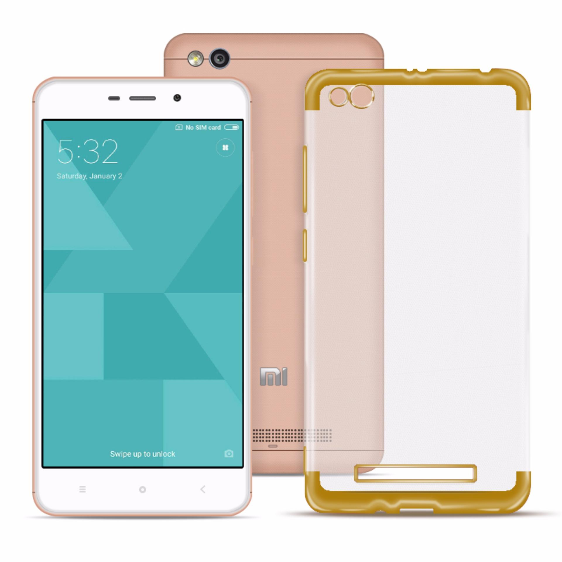 Philippines Ace Soft Tpu Jelly Case V2 For Redmi 4a Gold Clear Fitur Motomo Chrome Vivo