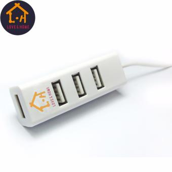 Adventurers 120cm Portable High Speed 4 Ports 2.0 USB Hub LongExtension Cable (White) Free 1 Of 8GB Double Plug Cellphone / PCUSB Flash Drive Dual Purpose Memory Stick (Any Color) - 3