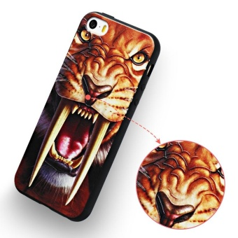 AKABEILA 3D Painted Pattern Coloured Drawing TPU Soft Phone Cover For Apple iPhone 5 5S Case 4.0 inch For Apple iPhone SE 5G 5 5S 6C Phone Cases - intl - 4