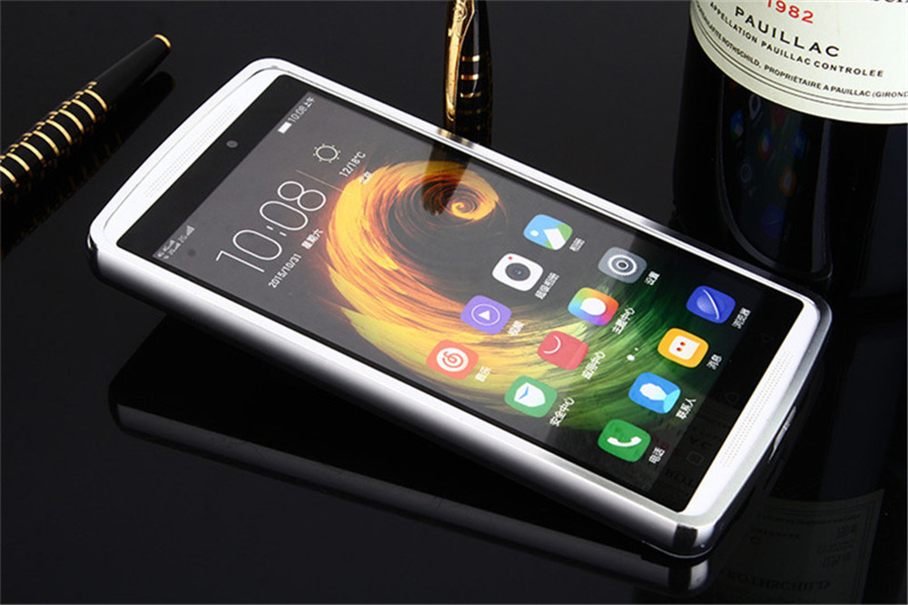 Aluminum Metal Frame + PC Mirror Back Cover Case For Lenovo Vibe K4Note/Lenovo Vibe ...