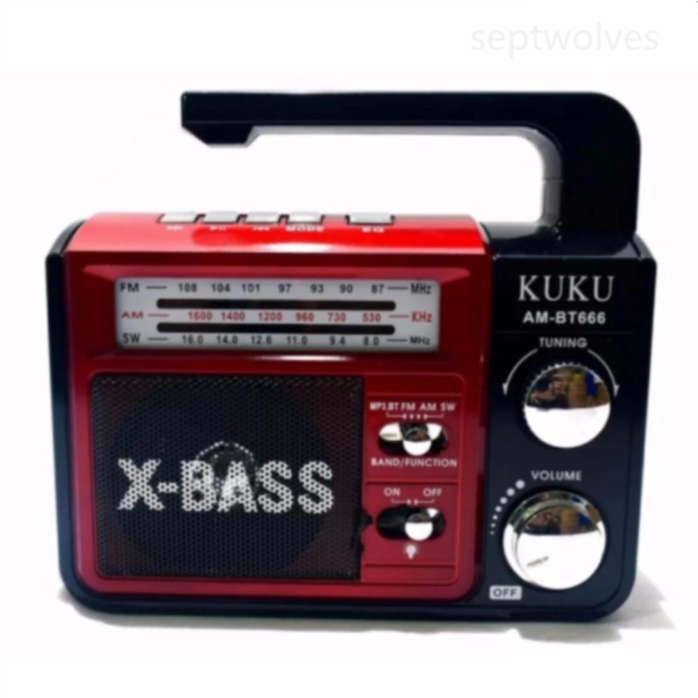 ... AM/FM/SW 3 Band Radio(Red/Silver)USB/SD ...