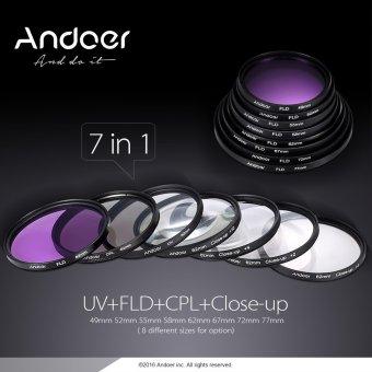Andoer 55mm UV + CPL + FLD + Close-up(+1+2+4+10) Lens Filter Kit -INTL - 2