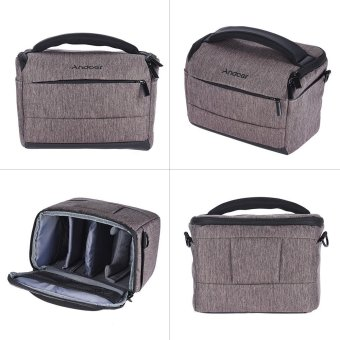 Andoer Cuboid-shaped DSLR Camera Shoulder Bag Portable FashionPolyester Camera Case for 1 Camera 2 Lenses and Small Accessoriesfor Canon Nikon Sony FujiFilm Olympus Panasonic Outdoorfree - intl