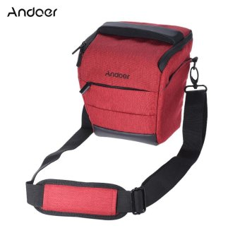 Andoer Portable DSLR Camera Shoulder Bag Sleek Polyester Camera Case for 1 Camera 1 Lens and Small Accessories for Canon Nikon Sony Fujifilm Olympus Panasonic - intl