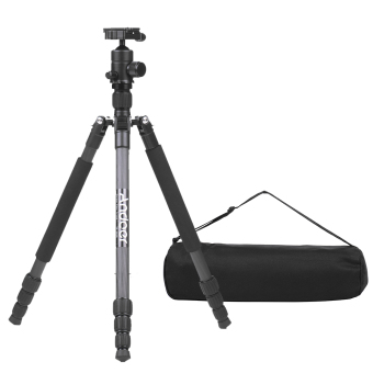 Andoer TP-666C Professional Carbon Fiber Tripod Kit 4 SectionsCamera Tripod with AD-10 Ball Head Max. Height 163cm Load Capacity6kg - intl - 2