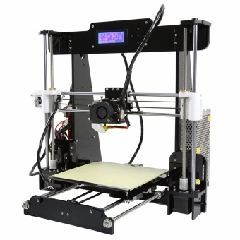 Anet A8 High Precision Big Size Desktop 3D Printer Kits Reprap Prusa i3 DIY Self Assembly LCD Screen with 8GB SD Card Printing Size 220*220*240mm Support ABS/PLA/HIP/PP/Wood Filament Black - intl - 2
