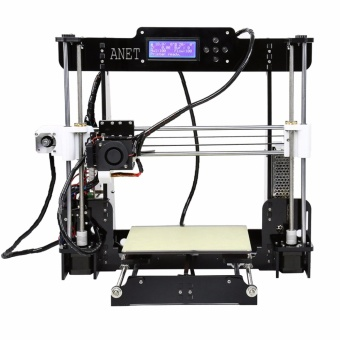 Anet A8 High Precision Big Size Desktop 3D Printer Kits Reprap Prusa i3 DIY Self Assembly LCD Screen with 8GB SD Card Printing Size 220*220*240mm Support ABS/PLA/HIP/PP/Wood Filament Black - intl - 3