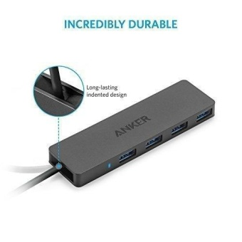 Anker A7516 4-Port USB 3.0 Ultra Slim Data Hub for Mac, PC, USB Flash Drives and Other Devices - intl - 5