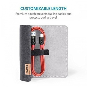 Anker Powerline+ PVC + Nylon USB Type C to USB 3.0 Cable - Red(3ft) - intl - 3