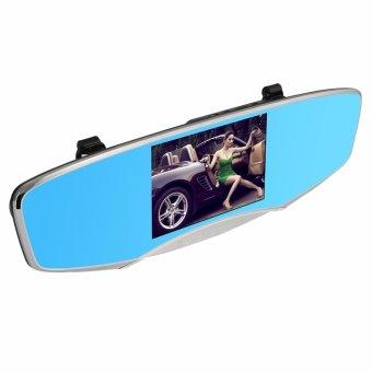 Anytek Q3D 5.0 inch HD Car Rear View Mirror Dash Camera Recorder (Silver) - 5
