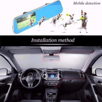 Anytek T1C 4.3 inch HD Car Rear View Mirror Dash Camera Recorder(Gold) - 3