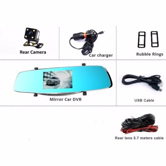 Anytek X3 4.3 inch HD Car Rear View Mirror Dash Camera Recorder (Silver) - 3