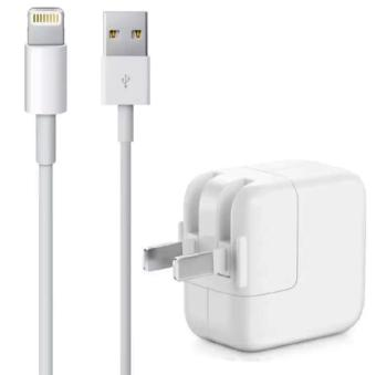 Apple 10W USB Wall Charger Power Adapter With Lightning Cable For iPhone 5 / 5c / 6g / 7g / ipad mini / iPad Air