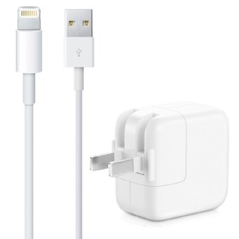 Apple 1m 2A Adapter with Apple Lightning to USB Cable for iPhone 6/6s/iPad (White)