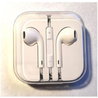 Apple Earpod Headphones For Iphone 6S (White) With Free Vivo In-EarWired Headset Earphone (White)