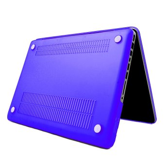 Apple Essentials Matte Hard Case for Macbook Pro 13.3 inches (Royal Blue) - 2