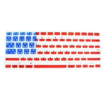 Apple Essentials USA Silicone Keyboard Skin Cover for Macbook 13.3 (Red/White/Blue) - picture 2
