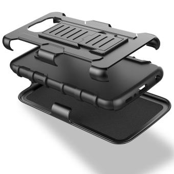 Apple iPhone 5 /5s /SE Optimus Designer (Black) Phone Case with Kickstand - 2