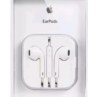 Apple original 109dB Earpods / Headset with Remote and Mic foriPhone / iPod Touch / iPad / iPad Mini (White) with Free Monopad(Variant Color)