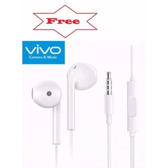 Apple Orignal Earpod Headphones For Iphone (White) With Free Vivo In-Ear Wired Headset Earphone (White) - 2