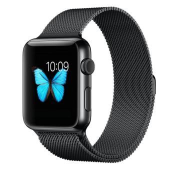 Apple Watch Band - 42mm Milanese Loop Stainless Steel Bracelet Strap Magnetic Closure Clasp - Replacement Wrist Band for iWatch Series 1 Series 2 Sport & Edition - intl