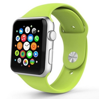 Apple Watch Band Series 1 Series 2, Soft Silicone ReplacementSports Band for 38mm Apple Watch