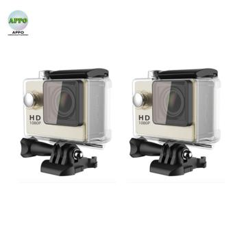 APPO A7 Ultra HD 1080P Waterproof Sports Action Camera Set of 2(Gold)