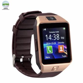 APPO DZ09 Bluetooth Phone Quad Smart Watch Touchscreen with Camera (Gold)